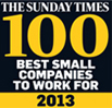 Sunday Times Best Small Companies to work for - 2013