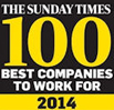 Sunday Times Best Small Companies to work for - 2014